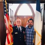 Two of our members during the Memorial Day Service.