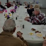 The Primetimers enjoying some good food and great fellowship!