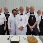 The United Methodist Men serving the Mother and Daughter Banquet.