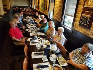 Our Primetimers enjoying a luncheon at Carrabbas Italian Grill