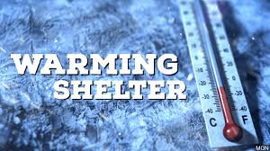 The Warming Shelters are available during the winter months when temperature fall below 32 degrees.