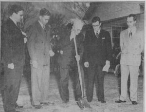 Ground breaking ceremony for the church